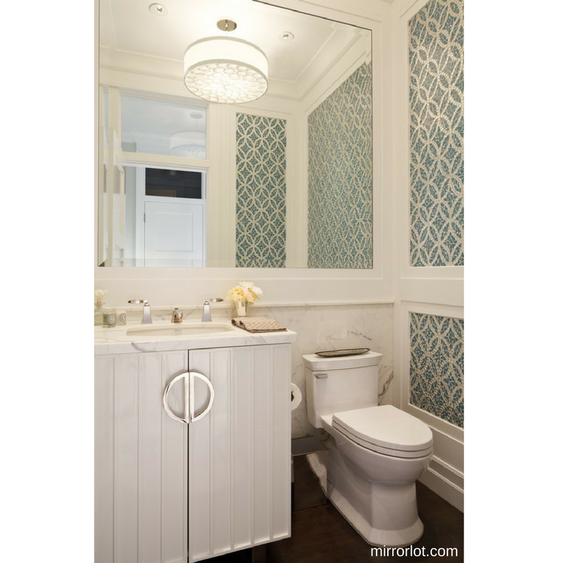 ... Bathroom Look Much Larger Is To Simply Add Mirrors. Choose Floor To  Ceiling Mirrors Or A Large Mirror Over The Sink. It Will Also Make Getting  Ready In ...