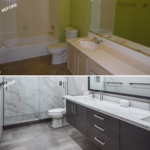 Bathroom before and after 1